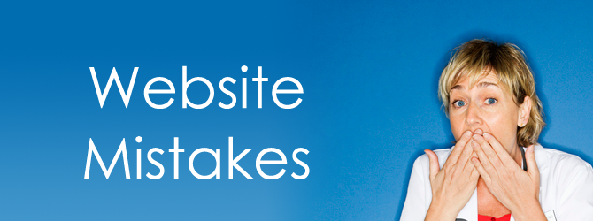 web site mistakes