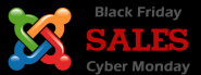 black friday cyber monday sales on joomla extensions