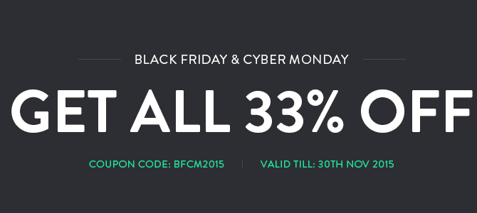 Black Friday Cyber Monday sales at Joomla Monster