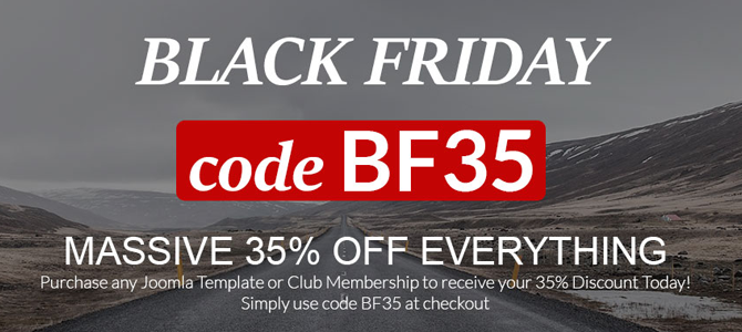 black friday sale at joomlage
